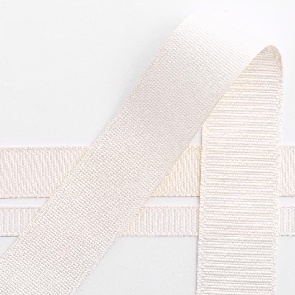 Cream Grosgrain Ribbon