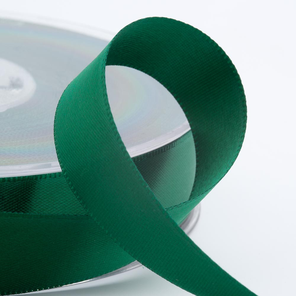 Bottle Green Satin Ribbon