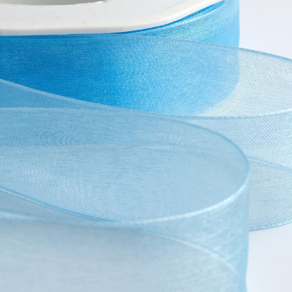 Blue Organza Ribbon