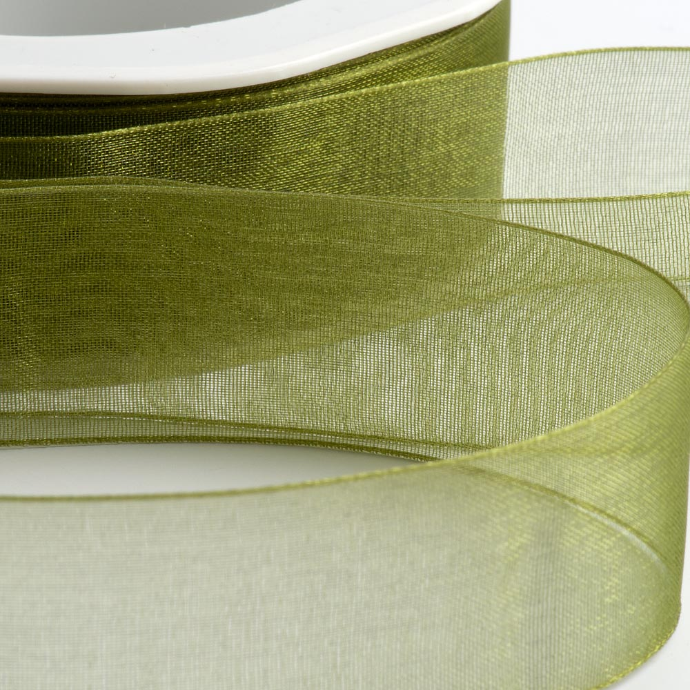 Moss Green Organza Ribbon