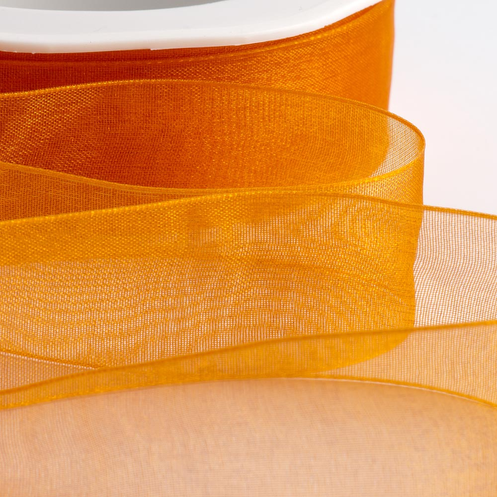 Orange Organza Ribbon