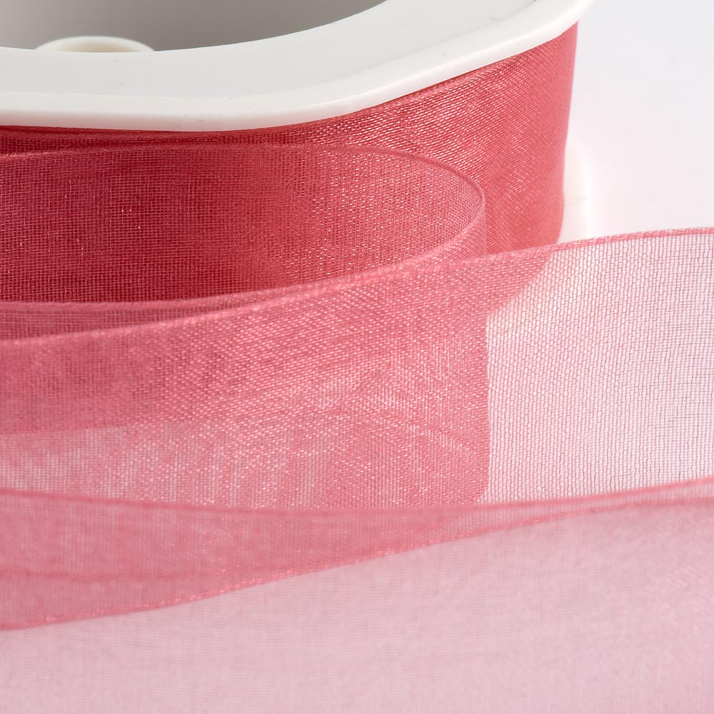 Rose Pink Organza Ribbon