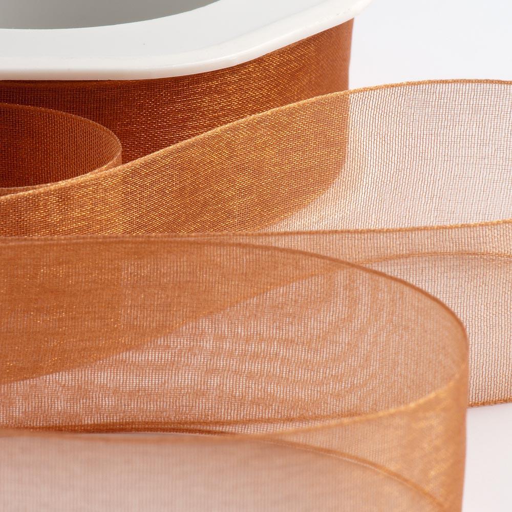 Apricot Spice Organza Ribbon