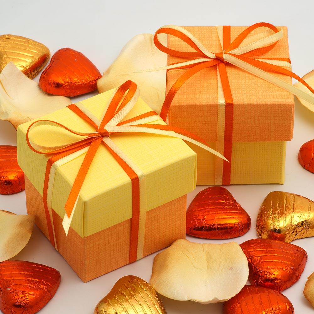 Orange Favour Boxes