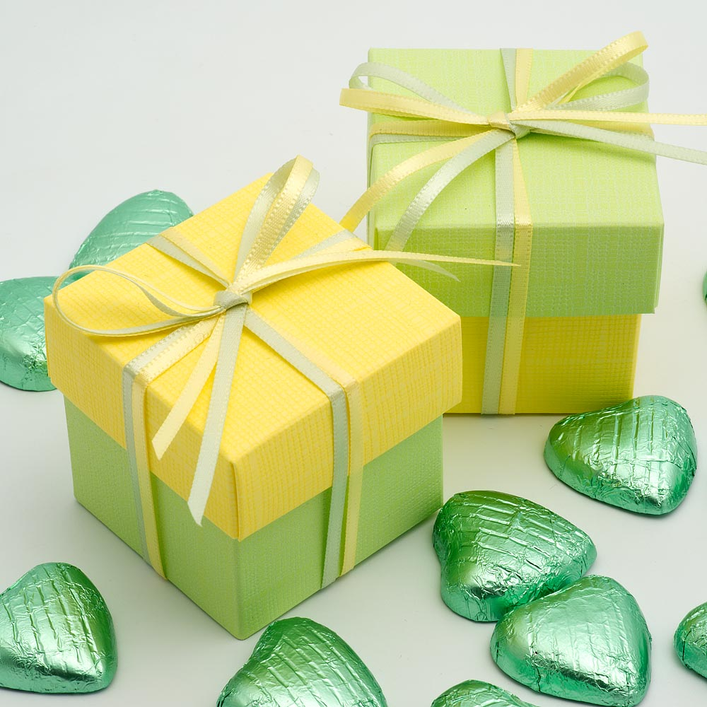Yellow Favour Boxes
