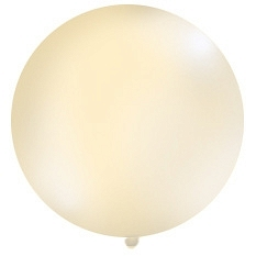 1 Metre Cream Giant Balloons