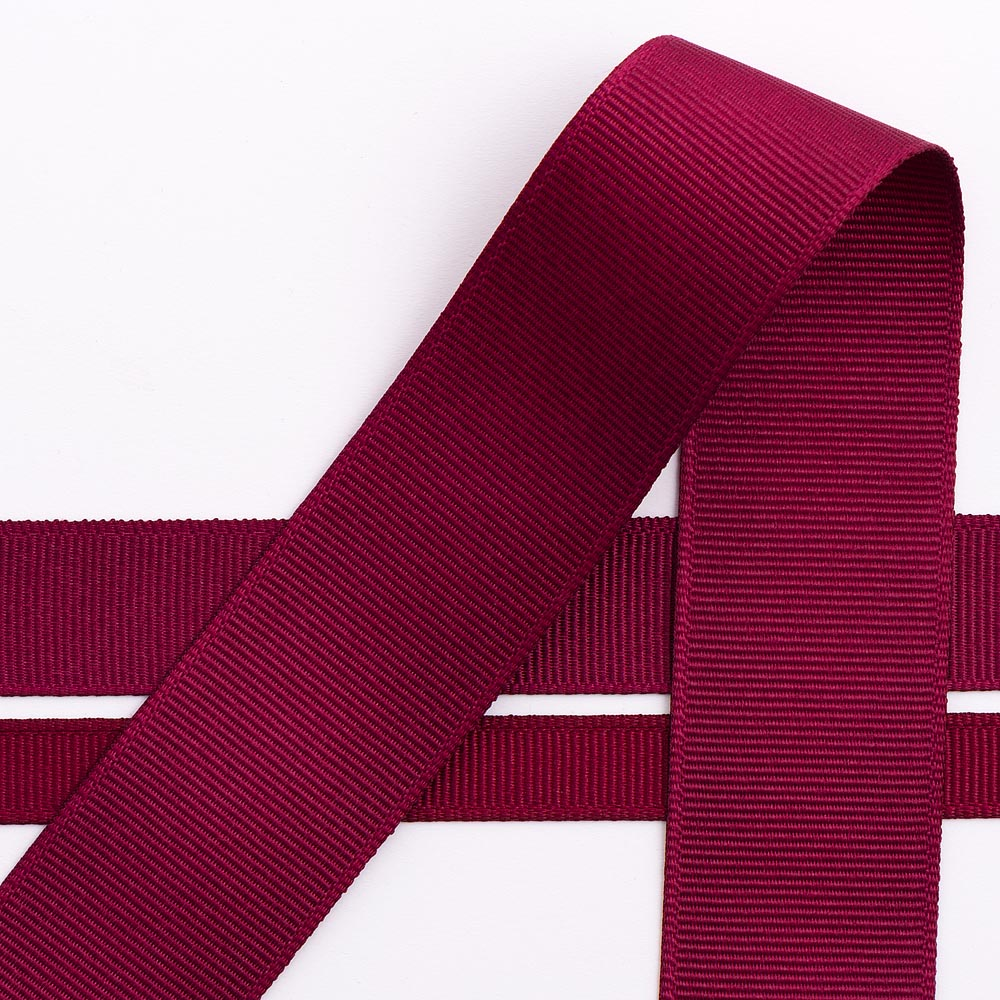 10mm Burgundy Grosgrain Ribbon 10M
