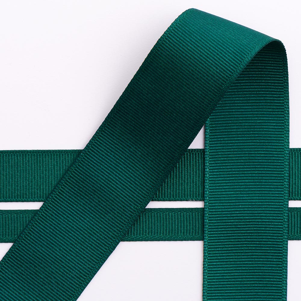 10mm Dark Green Grosgrain Ribbon 10M