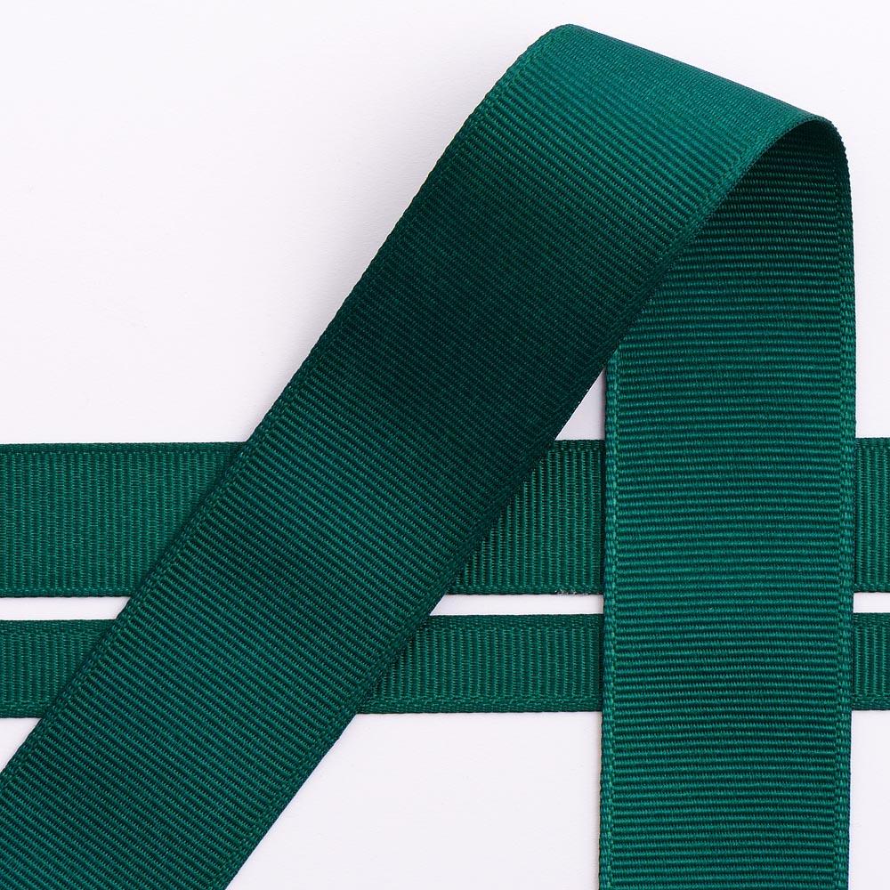 10mm Dark Green Grosgrain Ribbon 10M