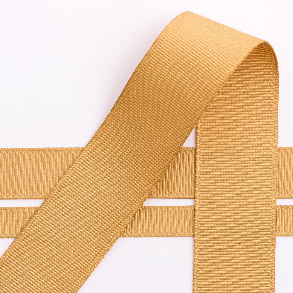 10mm Gold Grosgrain Ribbon 10M