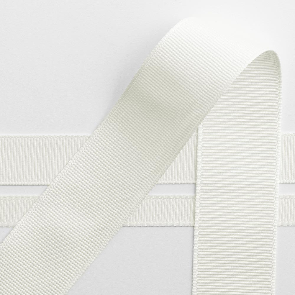 10mm Ivory Grosgrain Ribbon 10M