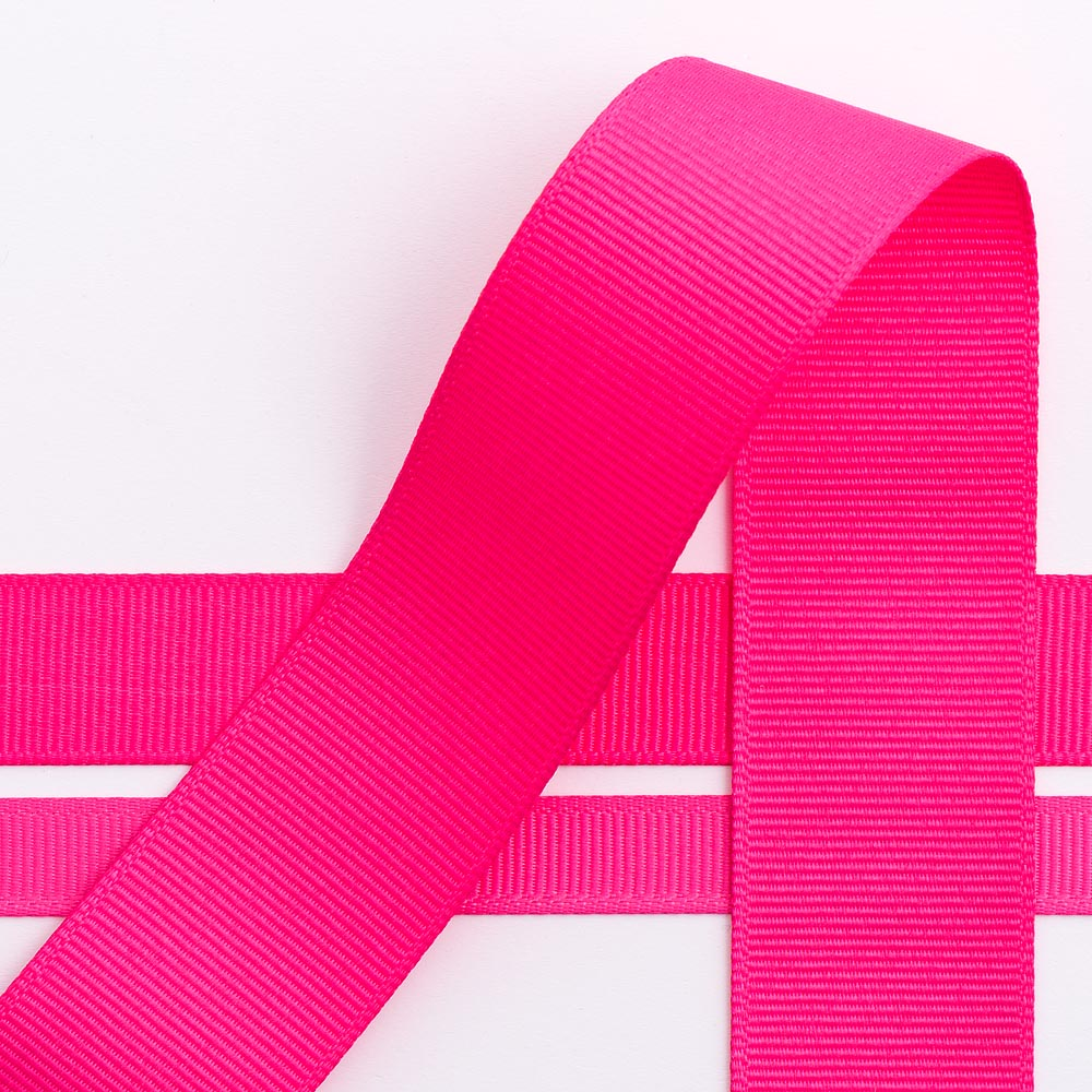 10mm Shocking Pink Grosgrain Ribbon 10m
