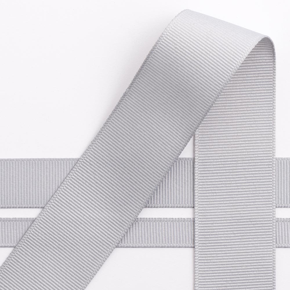 10mm Silver Grosgrain Ribbon 10M