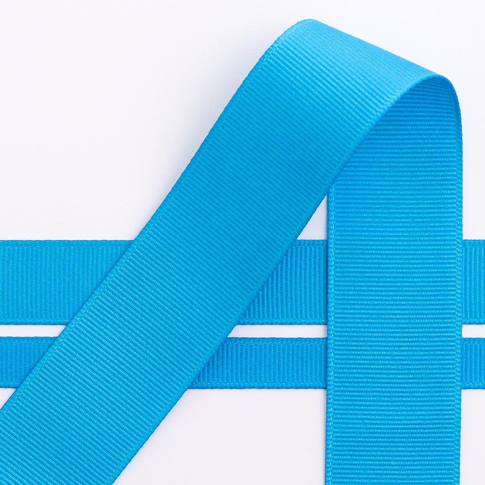 10mm Turquoise Grosgrain Ribbon 10M
