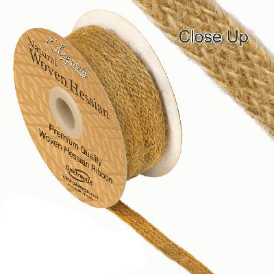 10mm Woven Hessian Ribbon x 10M