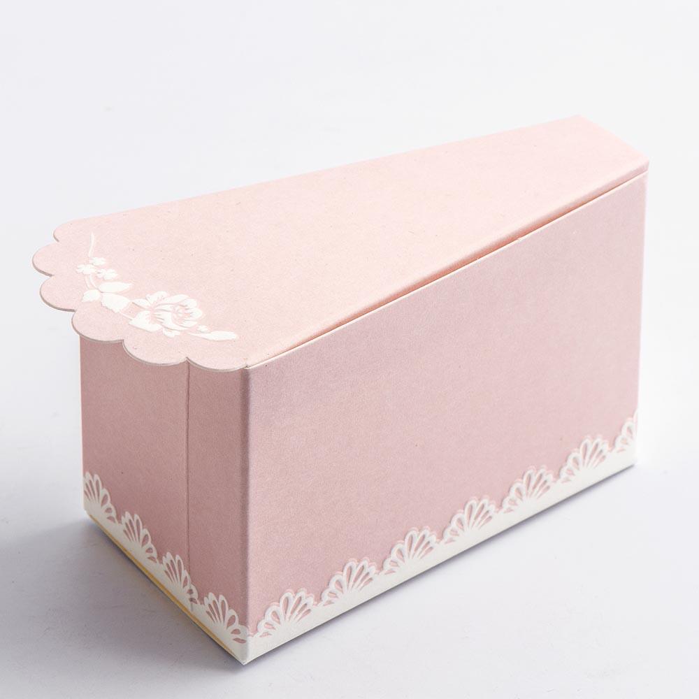 Scalloped Edge Pink Cake Box