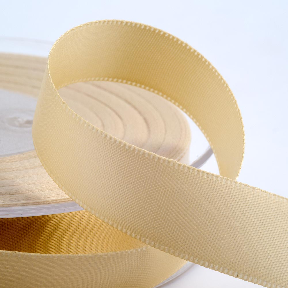 3mm Cream Satin Ribbon 50M