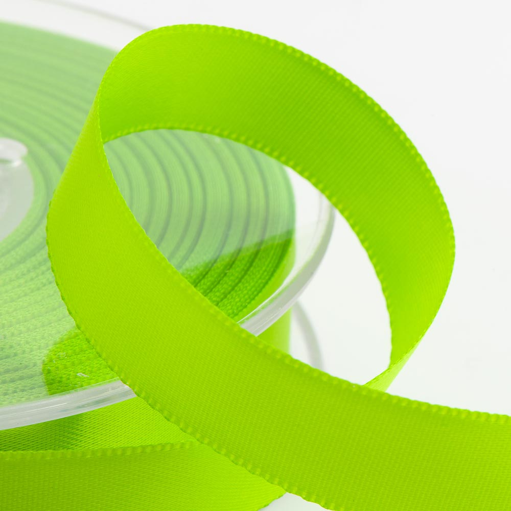 3mm Lime Satin Ribbon 50M