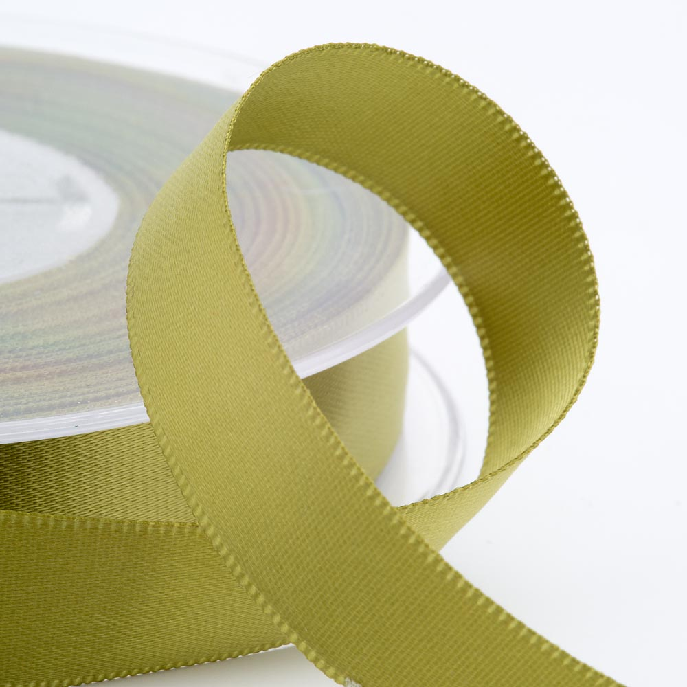 3mm Moss Green Satin Ribbon 50M
