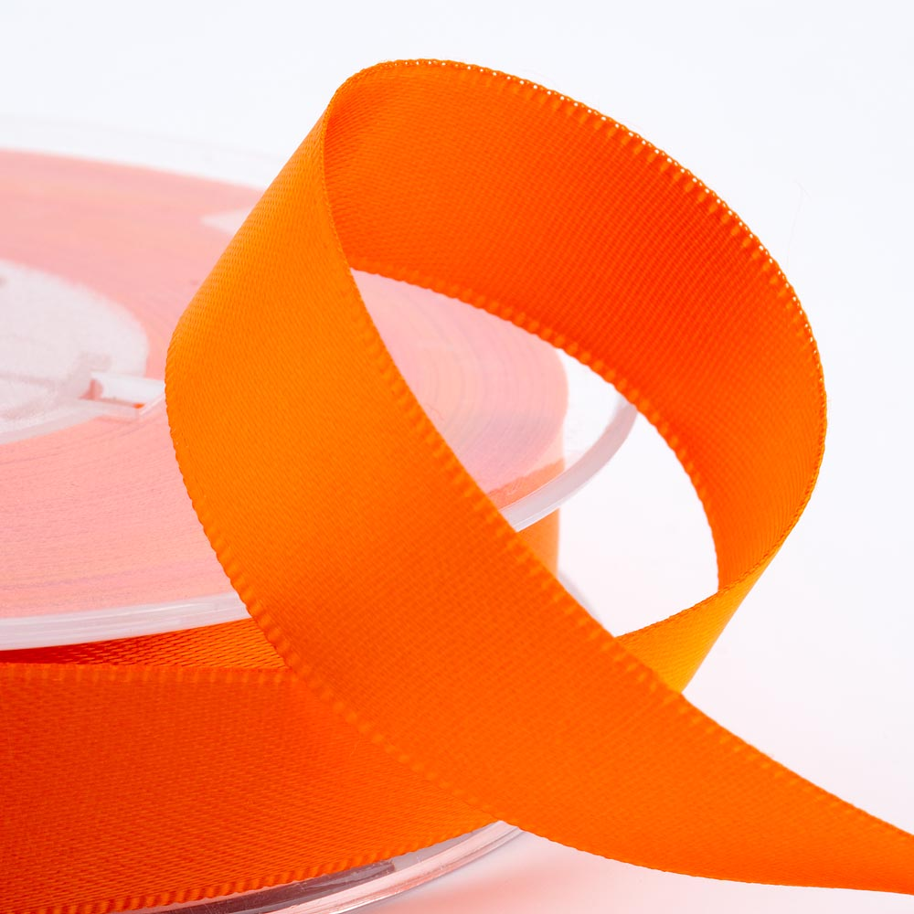 3mm Orange Satin Ribbon 50M