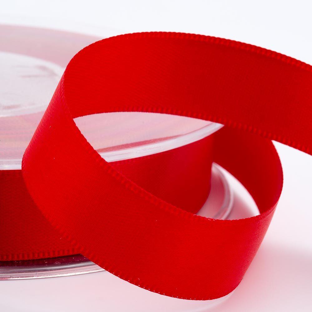 3mm Red Satin Ribbon 50M