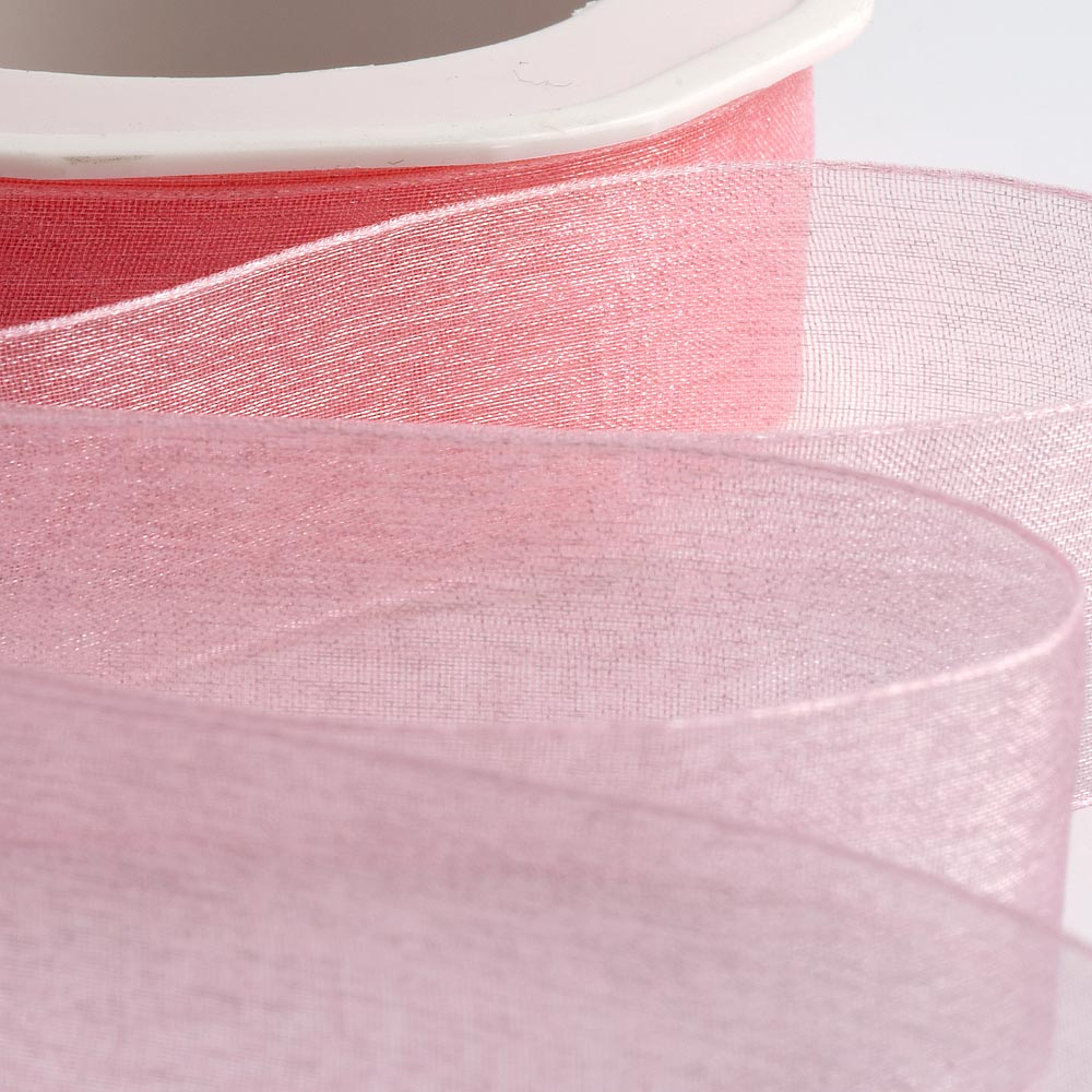 7mm Pink Organza Ribbon 50M