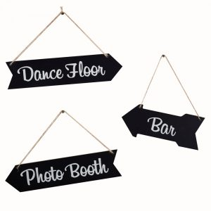 Chalkboard Wedding Arrow Signs