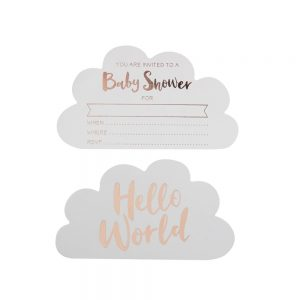Rose Gold Cloud Baby Shower Invitations