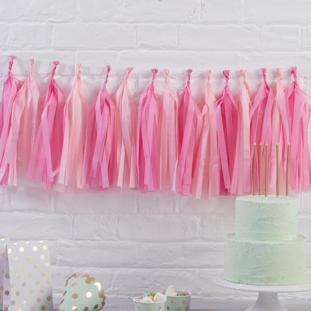 Pink Hanging Tassel Garland Kit