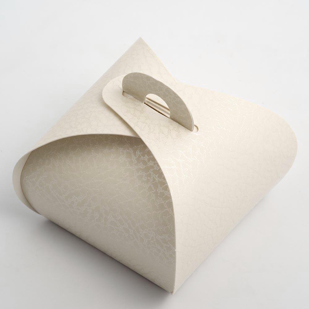 Antique White Pelle Tortina Favour Box