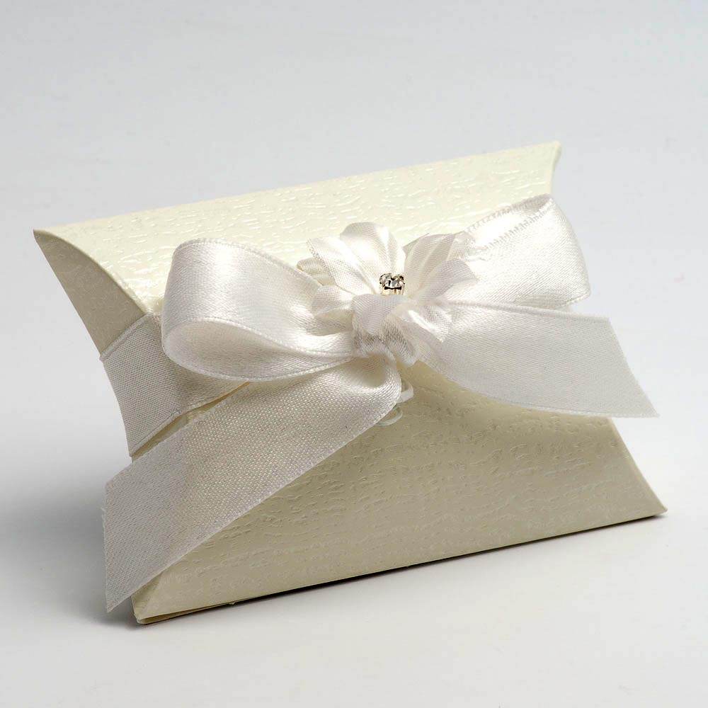 Ardesia Ivory Pillow Favour Box