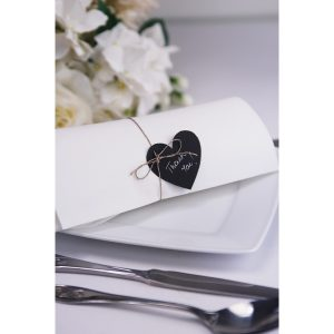 Black Paper Heart Tags
