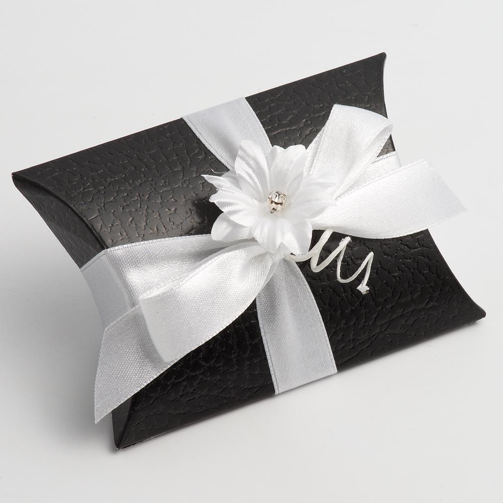 Black Pelle Pillow Favour Box