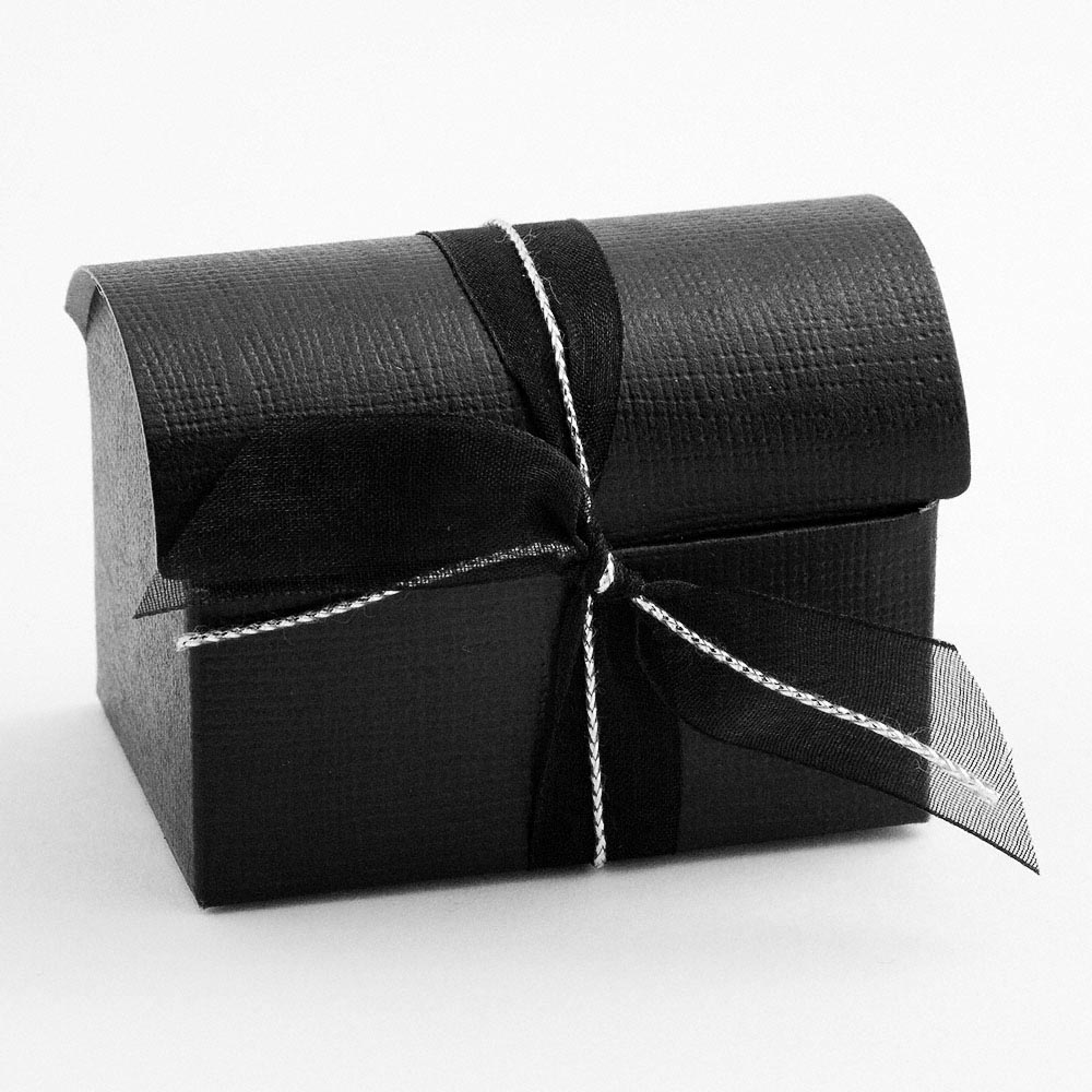 Black Silk Cofanetto Favour Box