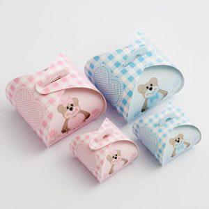 Blue Teddy Bear Tortina Favour Box - Small
