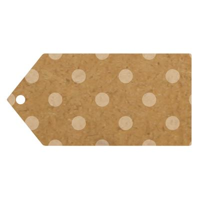 Brown Kraft Polka Dot Luggage Tags