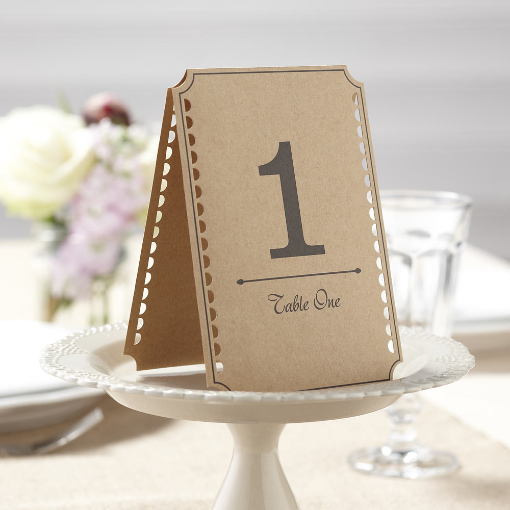Brown Kraft Table Numbers 1-12