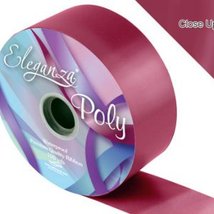 Burgundy Wedding Car Ribbon