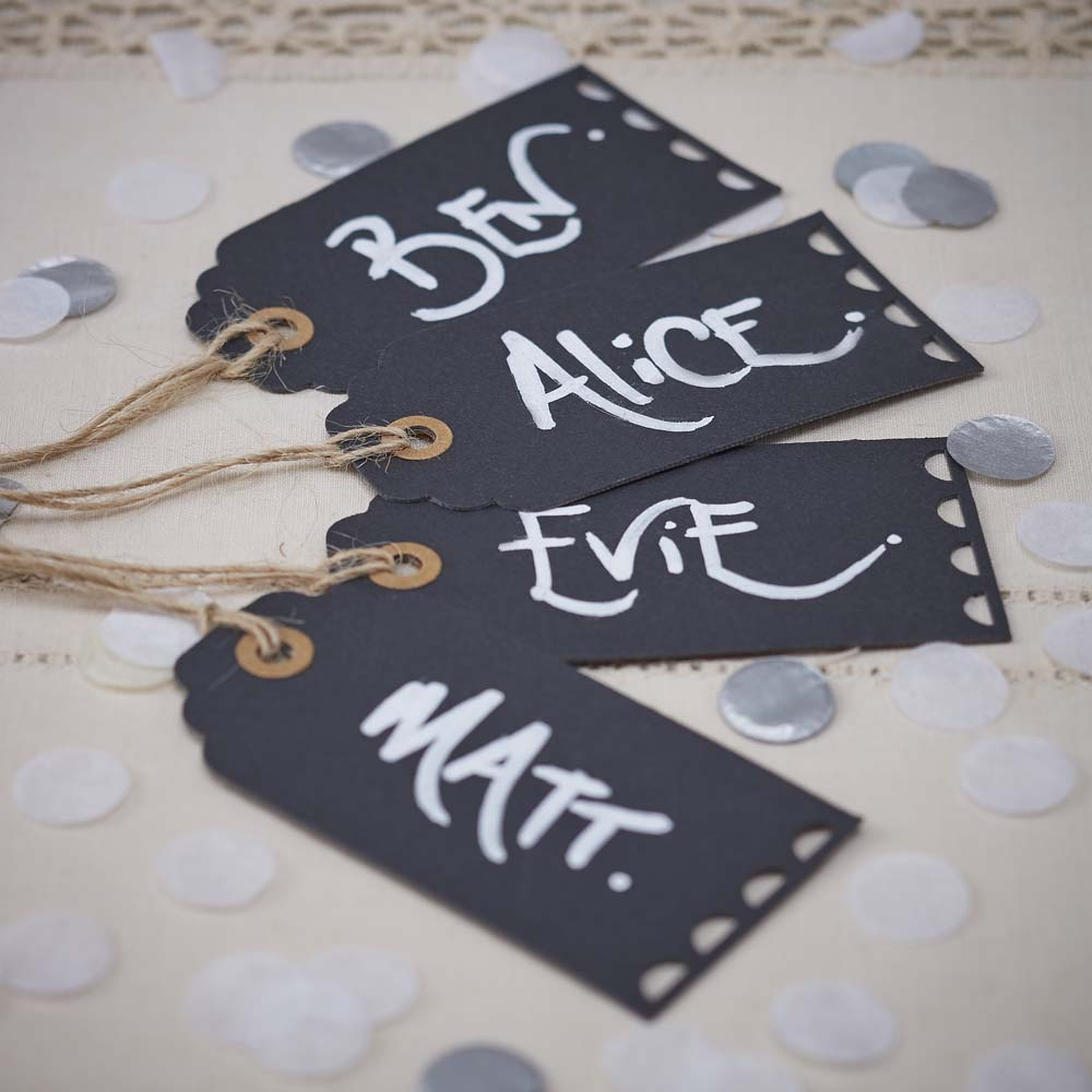 Chalkboard Name Luggage Tags