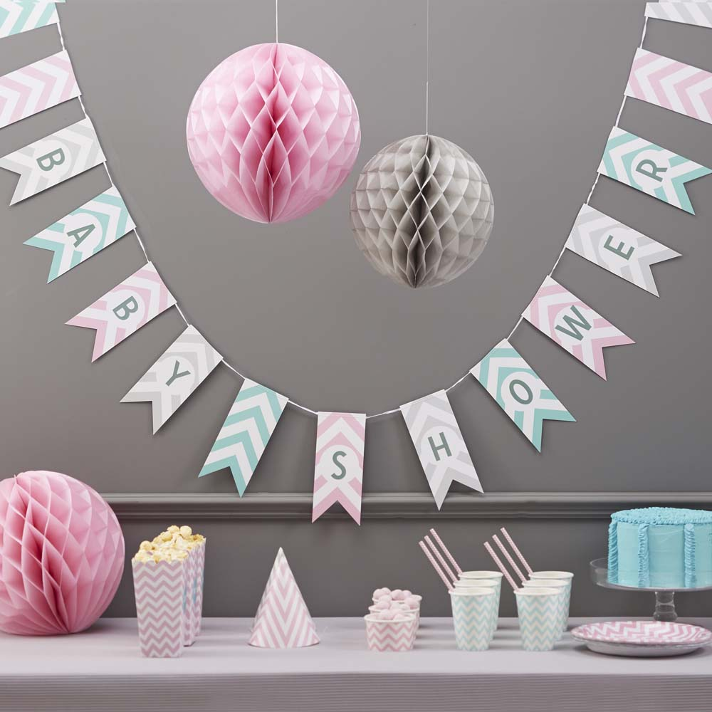 Chevron Baby Shower Bunting