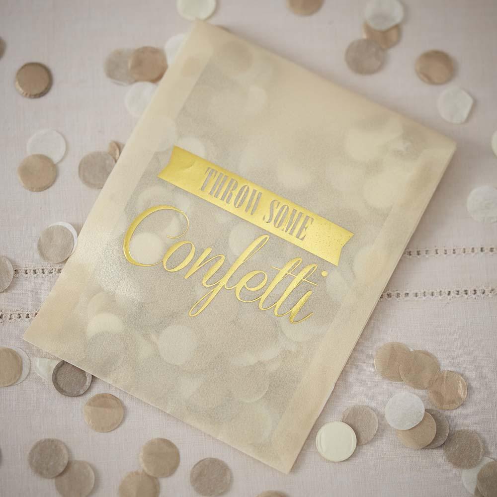 Confetti Envelopes x 10 Gold