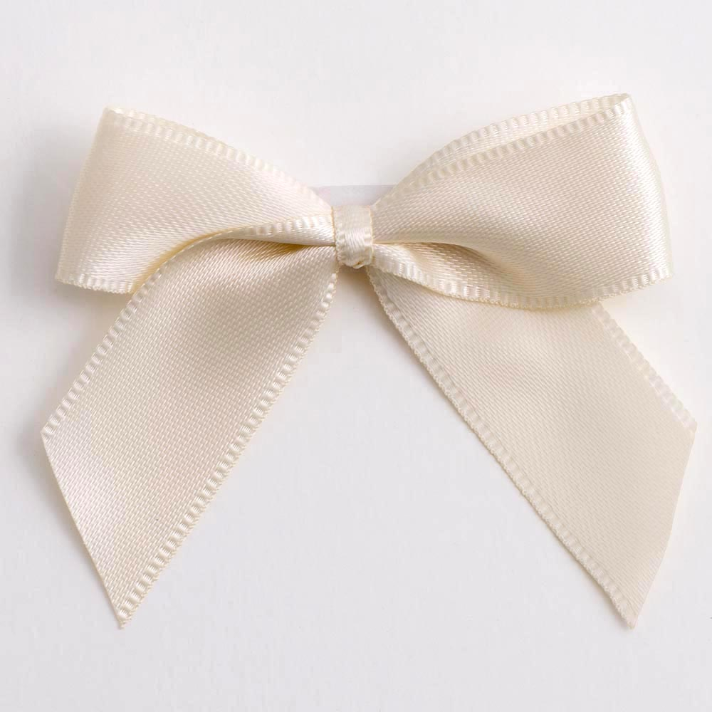 Cream Satin Bows 12 Pack