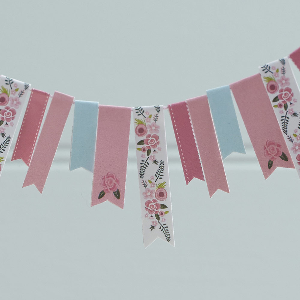 Fancy Floral Cake Bunting