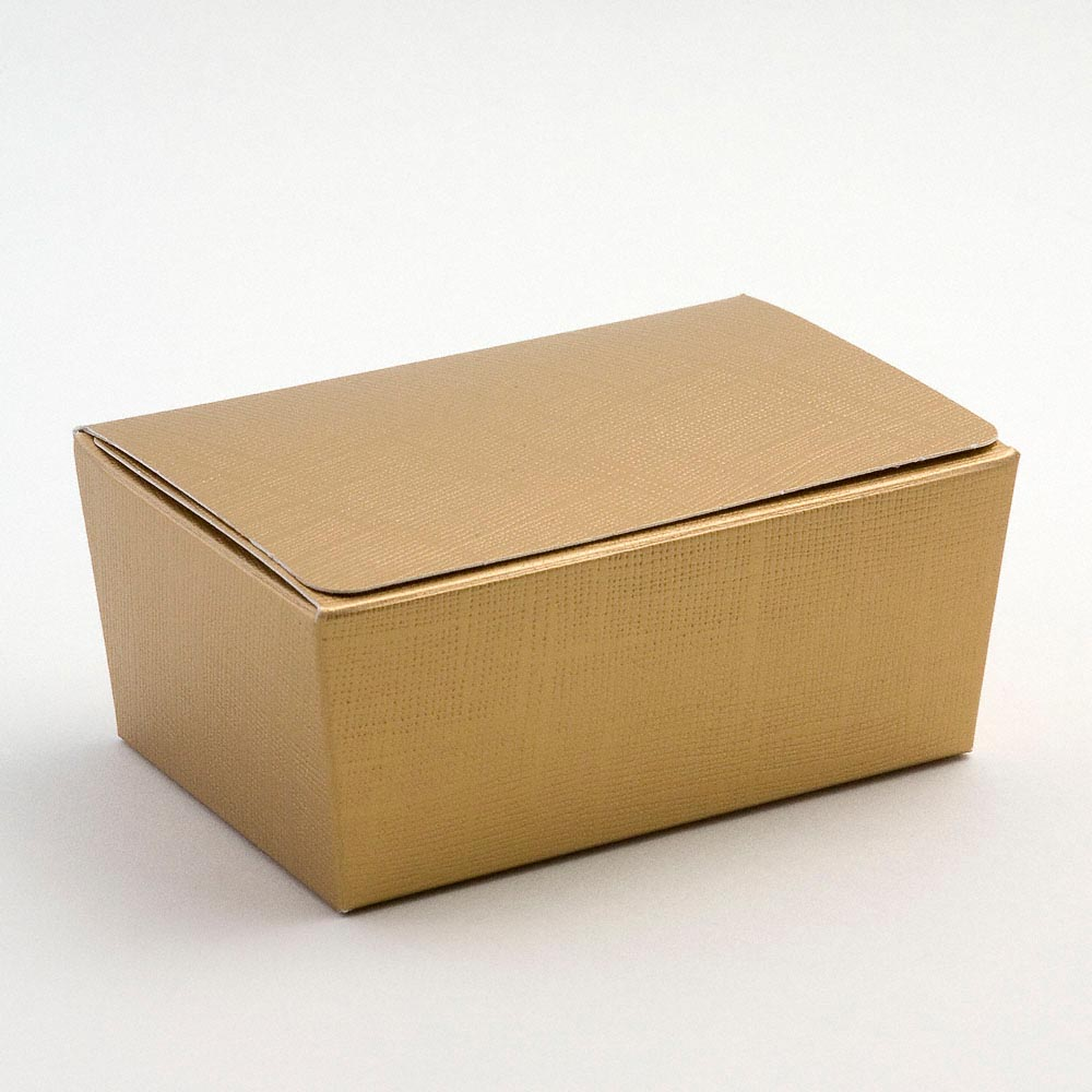 Gold Ballotin Favour Box 103mm x 67mm x 45mm