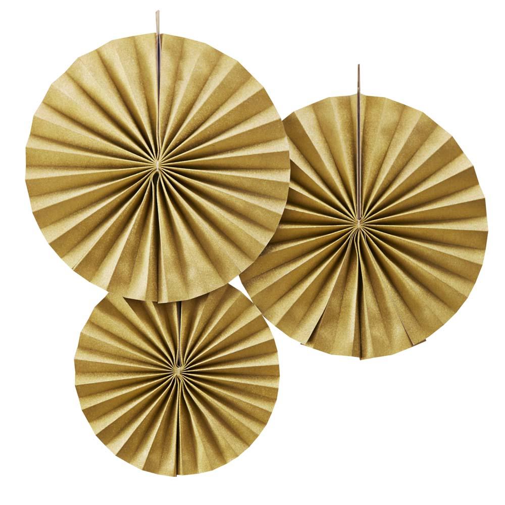 Gold Fan Pinwheel