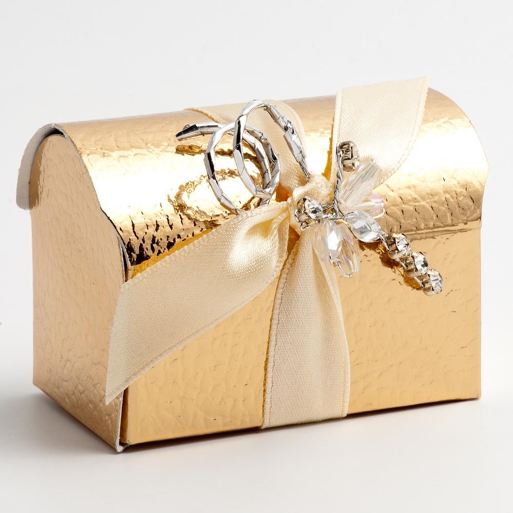Gold Pelle Cofanetto Favour Box