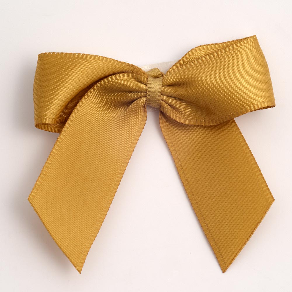 Gold Satin Bows 12 Pack