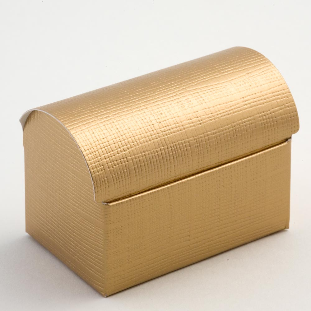 Gold Silk Cofanetto Favour Box