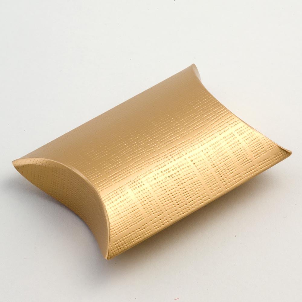 Gold Silk Pillow Favour Box