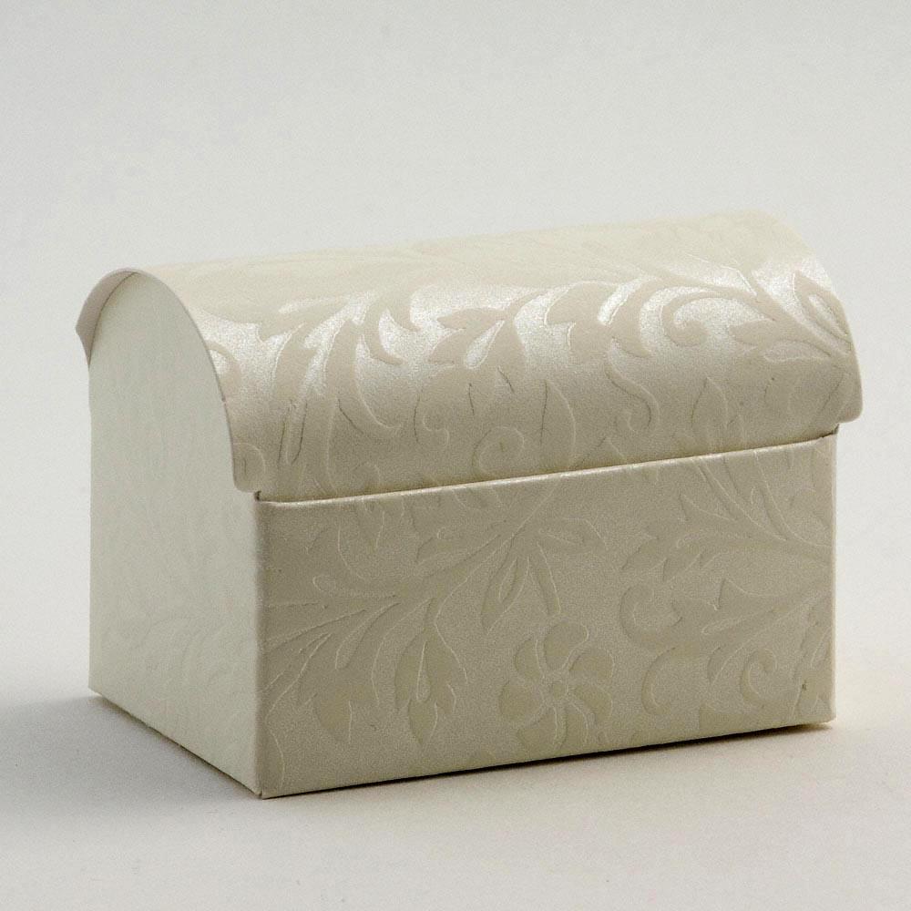 Ivory Diamante Cofanetto Favour Box
